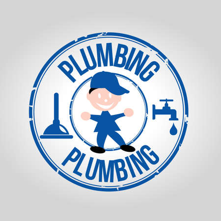 waterpolo: Plumbing Service stamp