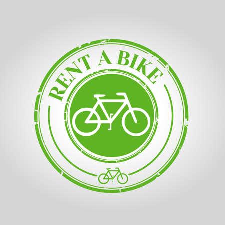 rent: Rent a bike stamp
