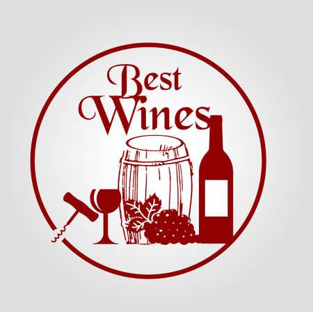 finest: Best wines stamp