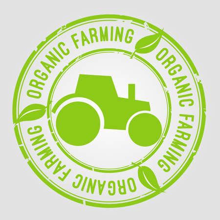 farming: Organic farming stamp