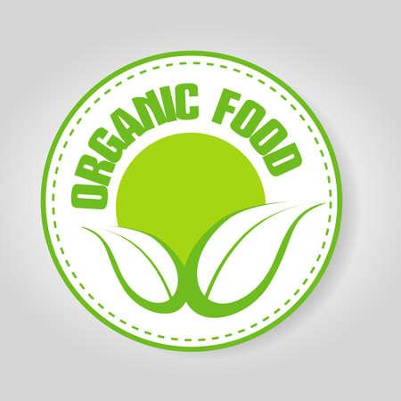 food: Organic food stamp Illustration