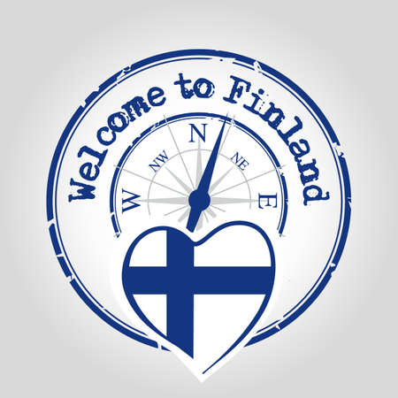 finland: Welcome to Finland Illustration