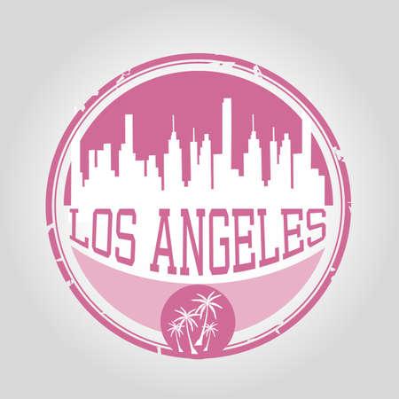 los: Los Angeles Stamp Illustration