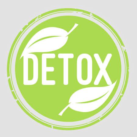 detox: Detox stamp Illustration