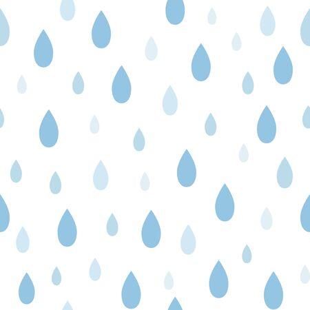 Seamless irregular raindrops pattern on white