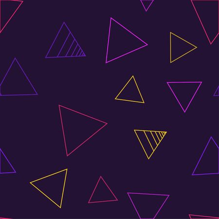 Pattern of Abstract Modern pastel colored vector in 80s style. Synthwave. Vaporwave style. Retrowave, retro futurism, webpunk.