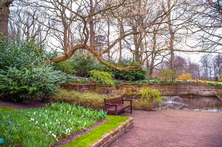 keukenhof: Keukenhof botanic garden in early spring time Stock Photo
