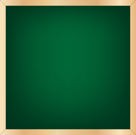 greenboard: green chalkboard vector illustration with wood frame and blank greenboard