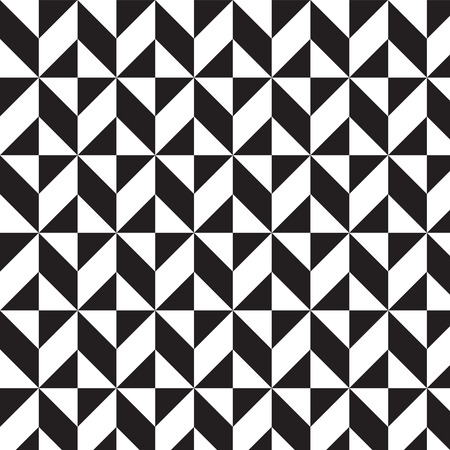 black and white triangles and squares pattern background vector illustration image