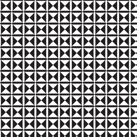 double cross: double black and white triangles in square pattern background vector illustration image