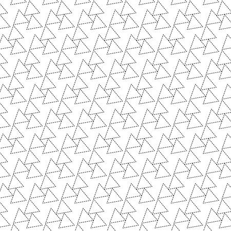 black dot line triangle pattern background vector illustration image Illustration