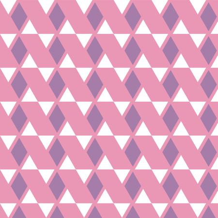duvet: Purple diamond and white triangle pattern on pink background vector illustration image Illustration