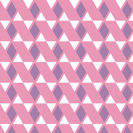Purple diamond and white triangle pattern on pink background vector illustration image Illustration