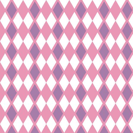 Purple pink and white diamond pattern background vector illustration image Illustration