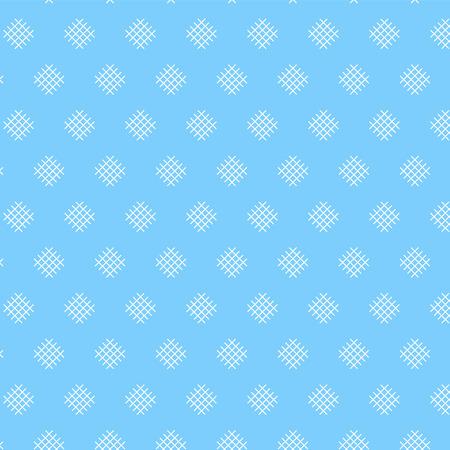 White diamond shape weave pattern on soft blue background vector illustration image