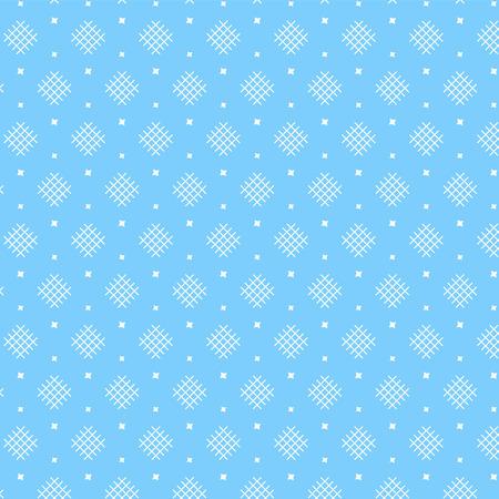 White diamond shape weaving pattern with star on soft blue background vector illustration image Illustration