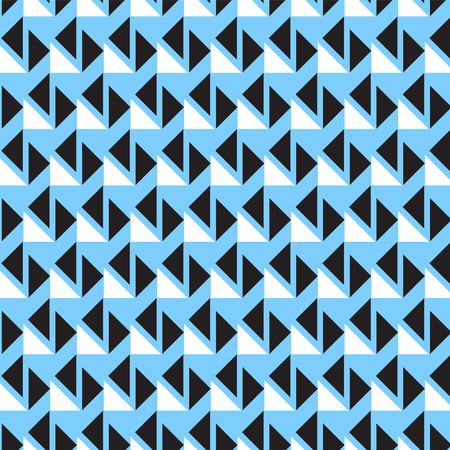 black and white rotated triangle pattern on soft blue background vector illustration image