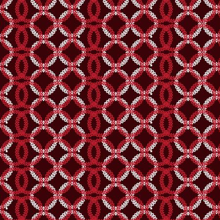 duvet: red and white vertical circle overlapped knitting pattern background vector illustration image