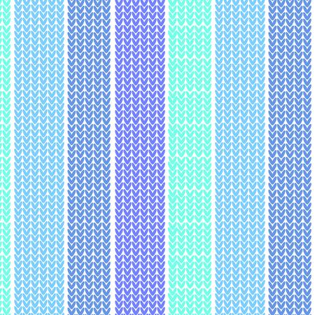 blue shade vertical striped knitting pattern background vector illustration image