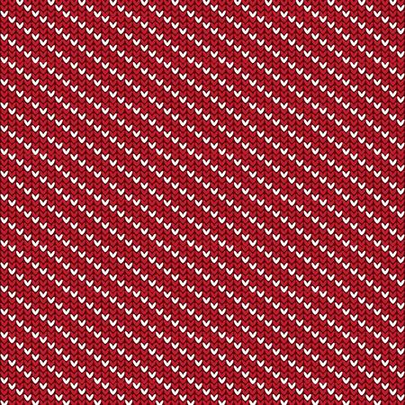 Rojo Y Blanco Diagonal Rayado Con Forma De Diamante Patrón De Punto ...