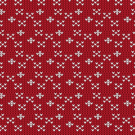 duvet: red and white cross sign and diamond shape knitting pattern background vector illustration image