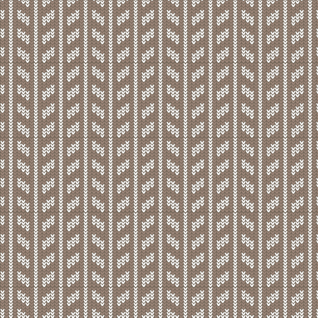 white coat: Brown and white rectangle vertical striped knitting pattern background vector illustration image Illustration