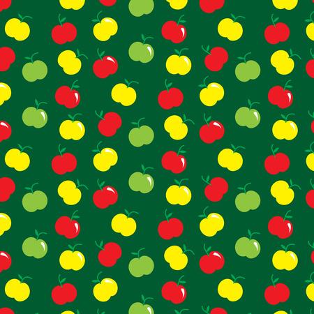 duvet: Yellow red green apple pattern background vector illustration image
