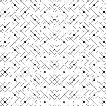 Linear diamond shape horizontal striped with black flower pattern background vector illustration image
