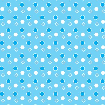 Blue and white circle diamond polygon shape pattern background vector illustration image
