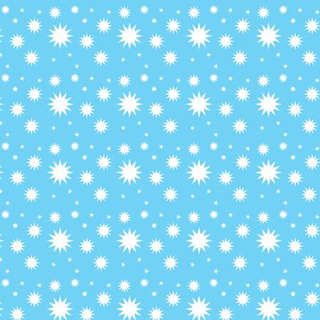 Different star shape seamless pattern blue background vector illustration image Illustration