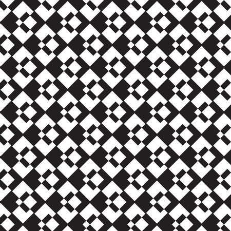 Black and white diamond diagonal overlapped pattern background vector illustration image