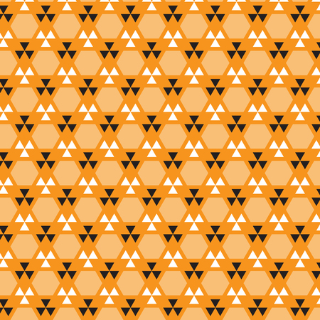 Orange, white and silver triangle pattern suitable as background Illustration