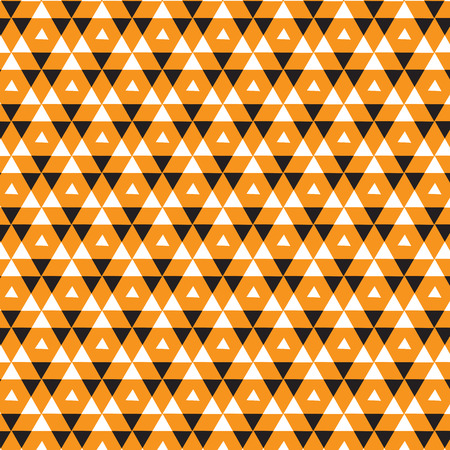 double big orange triangle overlapped with small white triangle inside pattern black background vector illustration image
