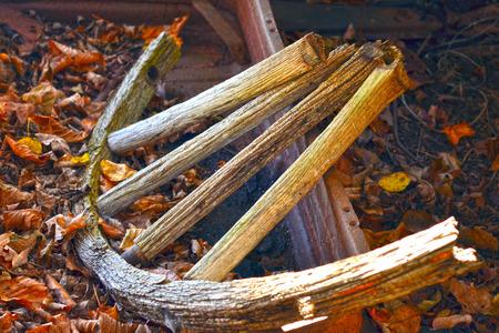Broken wagon wheel Фото со стока