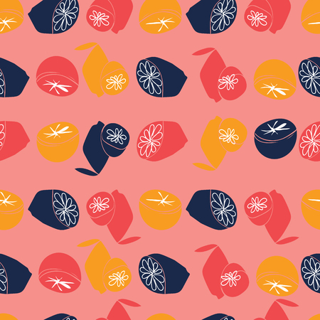A pink citrus weeding repeat Illustration