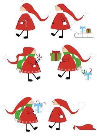 gnomi: Santa-assistenti gnomi isolati su bianco