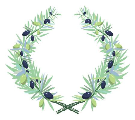 olive wreath: Olive wreath Illustration
