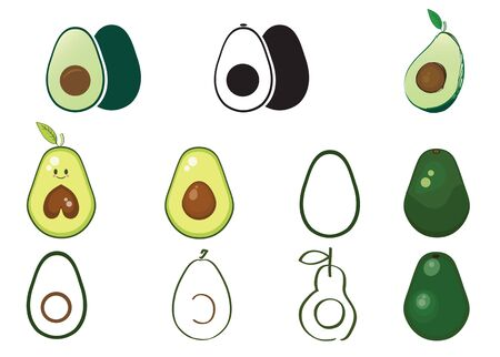 Avocados vector illustration Ilustrace