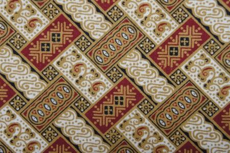 batik motif: Javanese Batik Pattern D  no post processing  Stock Photo