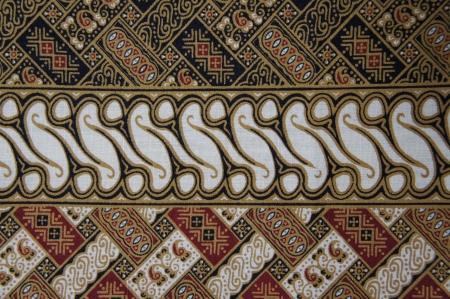 Javanese Batik Pattern D  no post processing  Reklamní fotografie