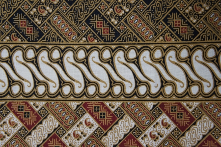 batik motif: Javanese Batik Pattern D  no post processing  Stock Photo