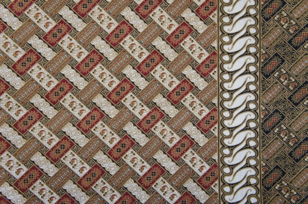javanese: Javanese Batik Pattern D  no post processing  Stock Photo