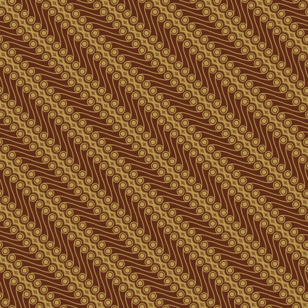 Javanese Batik Pattern  Set C1-2  Stock Photo
