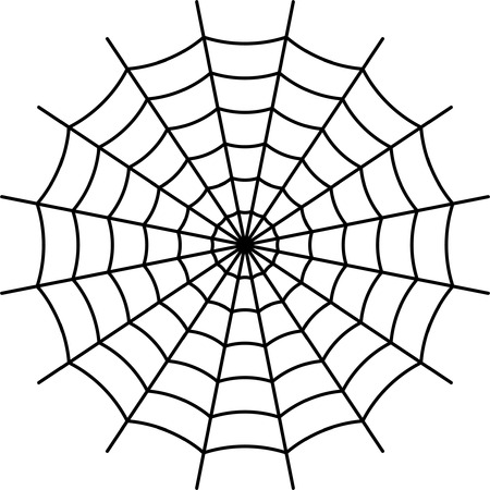 Spider Web - Black Vector Vector