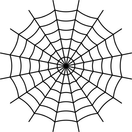 spider  net: Spider Web - Black Vector