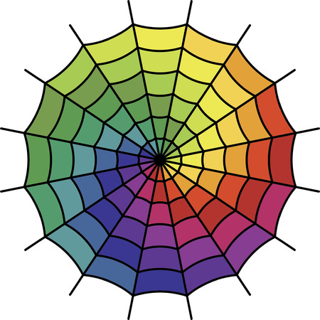 Spider Web - Color Spectrum Shift Vector Vector