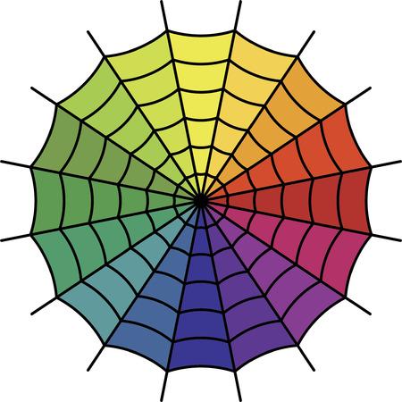 segment: Spider Web - Color Spectrum Segment Vector