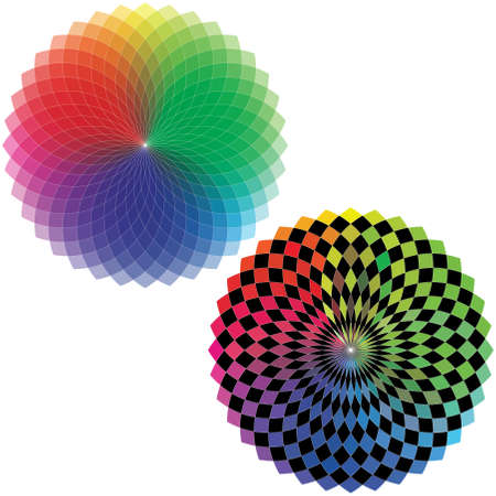 Spirograph - Color Spectrum  Set A  Stock Vector - 23077427