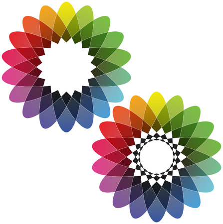 Spirograph - Color Spectrum  Set B  Vector