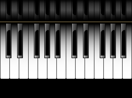Piano - 2 Octaves Vector